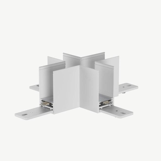 CLIXX magnetische track onderdelen - opbouw/pendel kruis hoek verbinding - wit