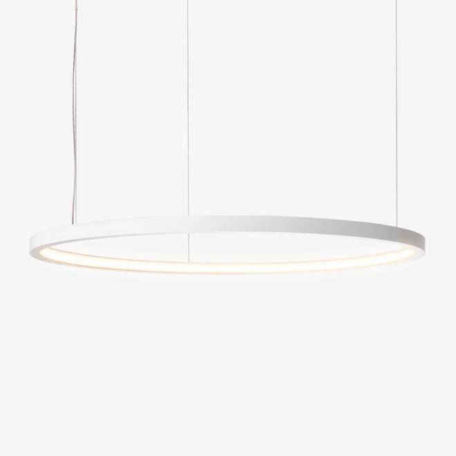 LED ring pendant lamp HALO ø1200 mm - white