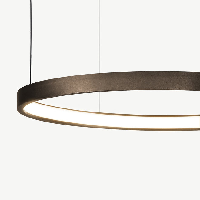 LED ring pendant lamp HALO ø1200 mm - bronze