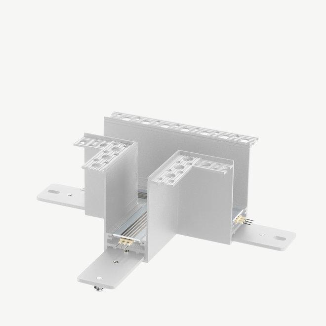 CLIXX magnetische track onderdelen - inbouw T hoek verbinding - wit