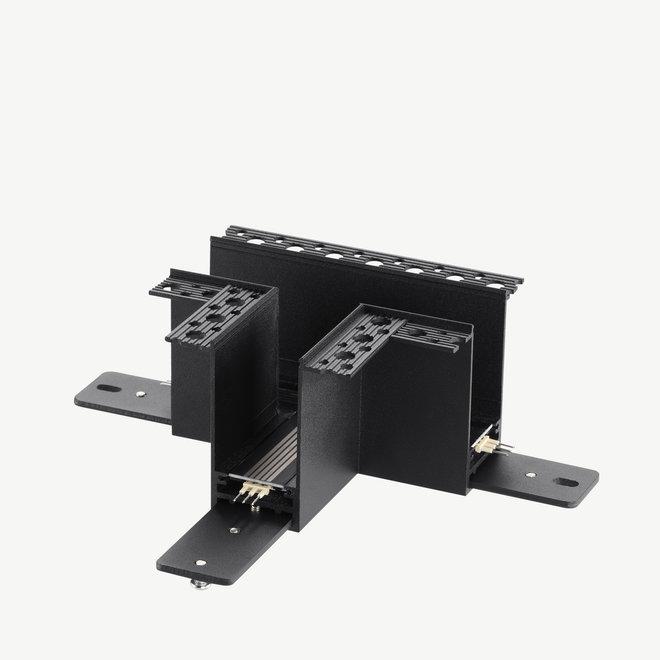 CLIXX magnetisch rail verlichtingssysteem - inbouw T  hoek verbinding - zwart