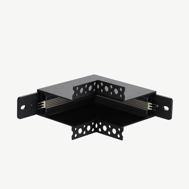 CLIXX magnetic track light system - recessed inner corner connection - black