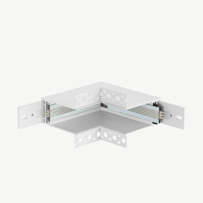 CLIXX magnetische track onderdelen - inbouw binnen hoek verbinding - wit