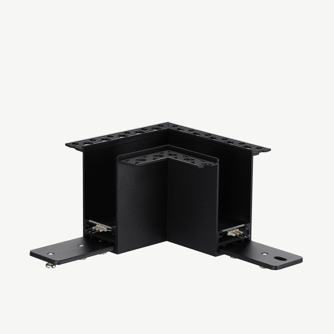 CLIXX magnetic track light system - recessed 90° corner connection - black