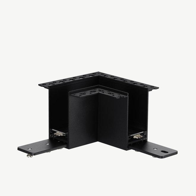 CLIXX magnetisch rail verlichtingssysteem - inbouw 90° hoek verbinding - zwart
