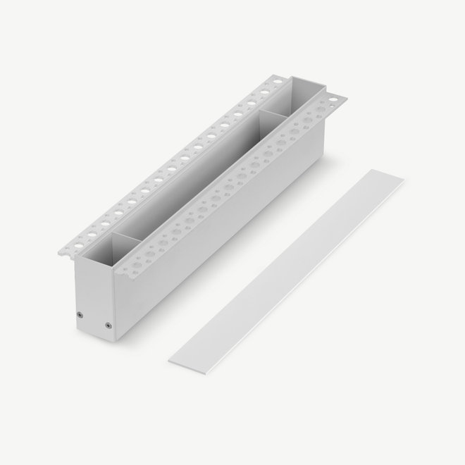 CLIXX magnetic track accessories recessed driverbox - white