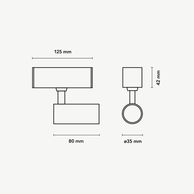 CLIXX SLIM magnetisch rail verlichtingssysteem - SPOT35 LED module  - zwart