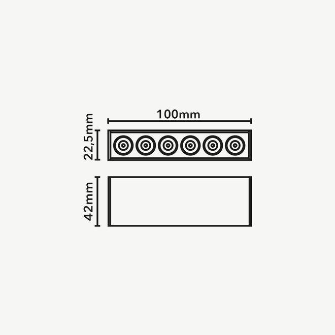 CLIXX SLIM magnetic track light system - DOT06 LED module - black