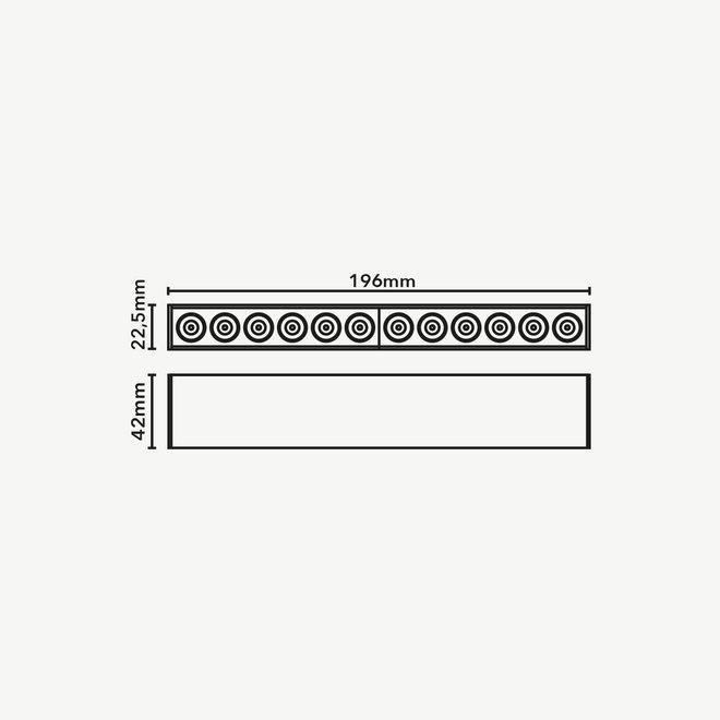 CLIXX SLIM magnetic track light system - DOT12 LED module - black