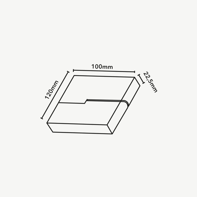 CLIXX SLIM magnetisch rail verlichtingssysteem - FOLD06 DOTS LED module  - wit