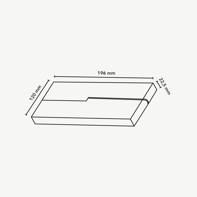 CLIXX SLIM magnetic track light system - FOLD12 DOTS LED module - black