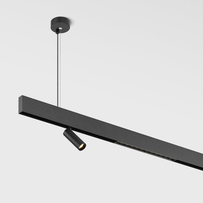 CLIXX magnetisch rail verlichtingssysteem - pendel profiel - zwart