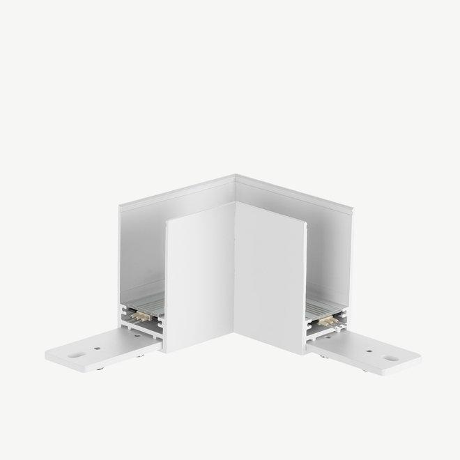 CLIXX SLIM magnetische track onderdelen - opbouw/pendel 90° hoek verbinding - wit