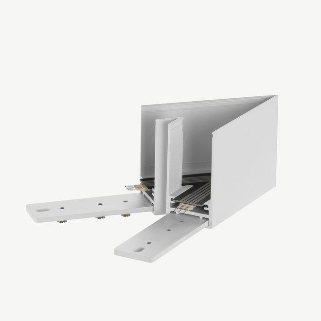 CLIXX SLIM magnetische track onderdelen - opbouw/pendel 45° hoek verbinding - wit