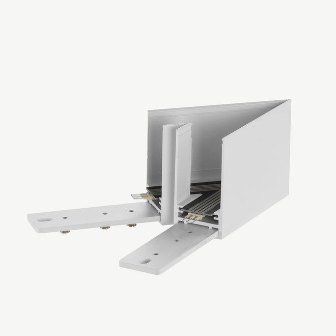 CLIXX SLIM magnetic track light system - surface/pendant 45° corner connection - white