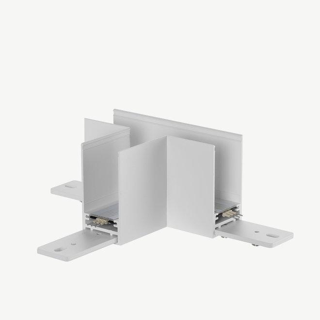 CLIXX SLIM magnetische track onderdelen - opbouw/pendel T hoek verbinding - wit
