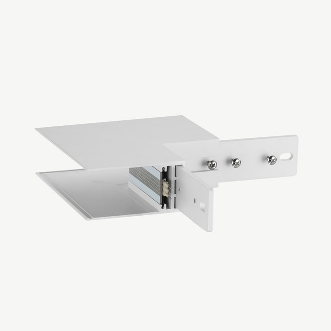 CLIXX SLIM magnetic track parts  - surface/pendant outer corner connection - white