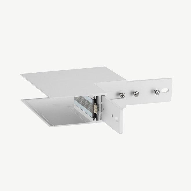 CLIXX SLIM magnetische track onderdelen - opbouw/pendel buiten hoek verbinding - wit