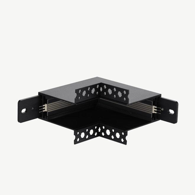 CLIXX SLIM magnetische track onderdelen - inbouw binnen hoek verbinding - zwart