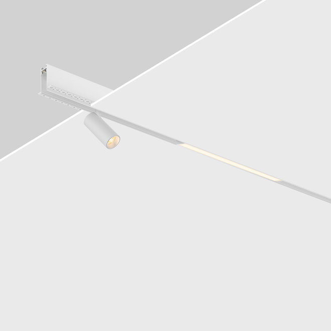 CLIXX magnetisch rail verlichtingssysteem - inbouw (trimless) profiel - wit