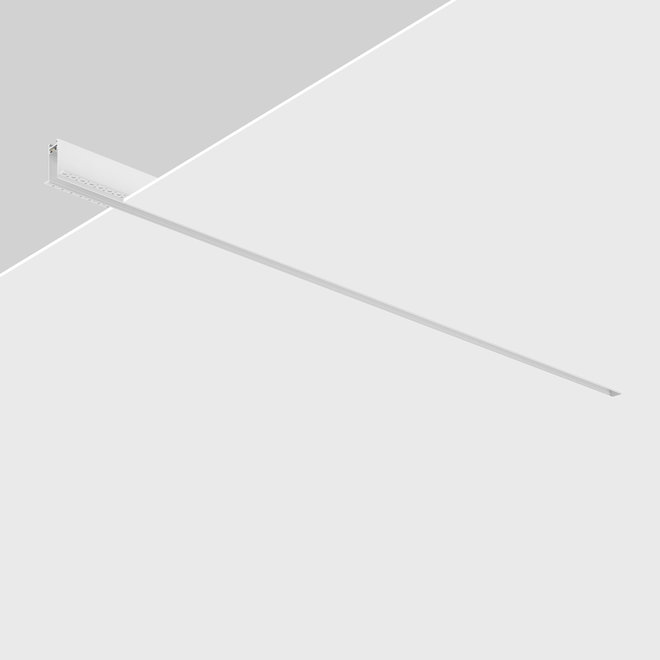 CLIXX magnetic tracks - recessed (rimless) profile - white