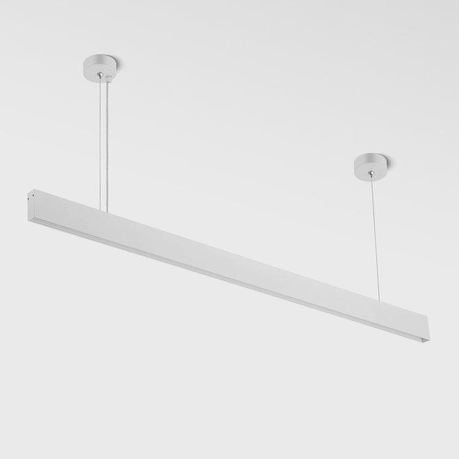 CLIXX SLIM magnetic tracks - pendant profile - white