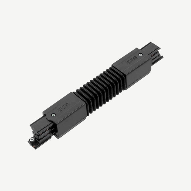 ONTRACK 3-phase track lighting system - surface profile flexible connector - black