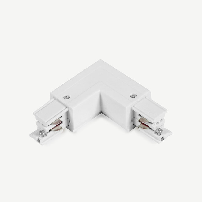 ONTRACK 3-phase track lighting system - surface profile L-connector Outside - white
