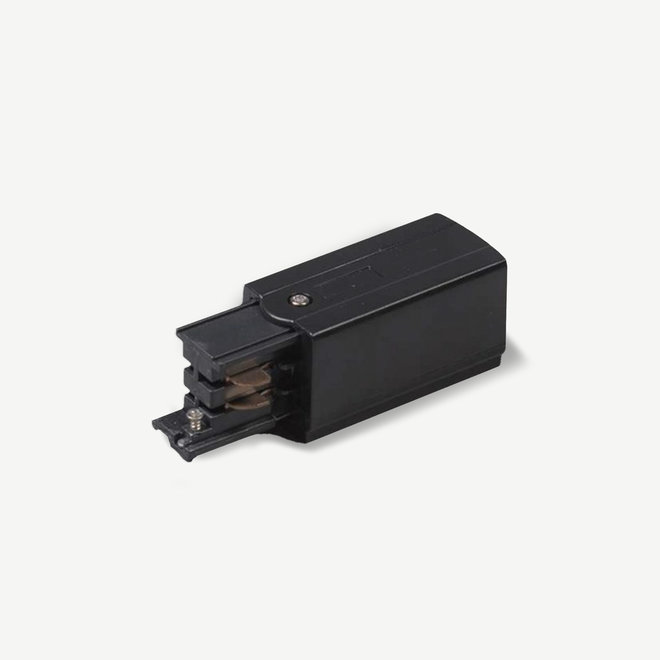 ONTRACK 3-phase track lighting system - surface profile power connector - black