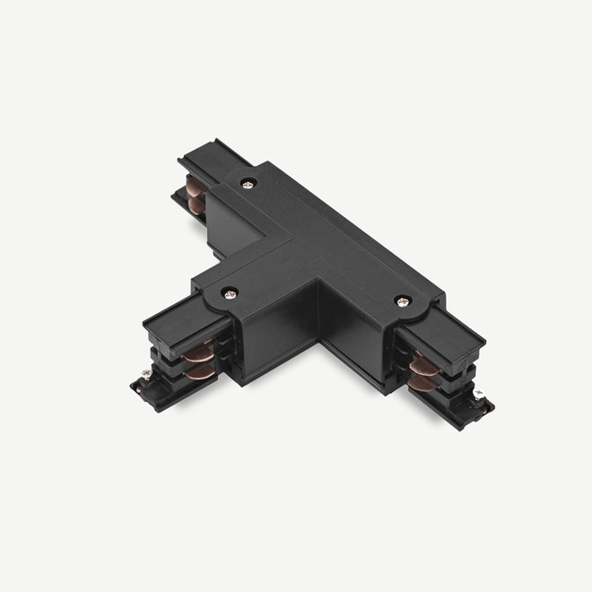 ONTRACK 3-phase track lighting system - surface profile T-connector - black