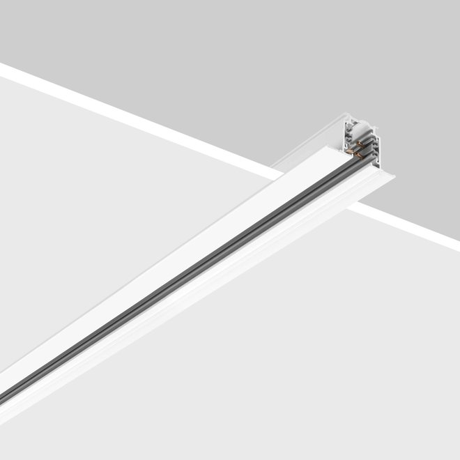 ONTRACK 3-phase tracks - recessed profile - white