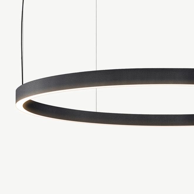 LED ring pendant lamp HALO Up-Down ø600 mm - black