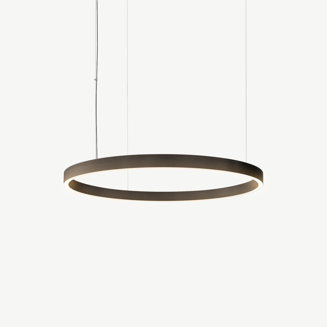 LED ring pendant lamp HALO Up-Down ø600 mm - bronze