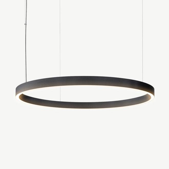 LED ring pendant lamp HALO Up-Down ø900 mm - black