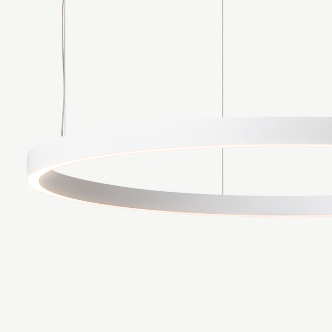 LED ring pendant lamp HALO Up-Down ø900 mm - white