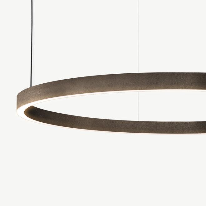 LED ring pendant lamp HALO Up-Down ø900 mm - bronze
