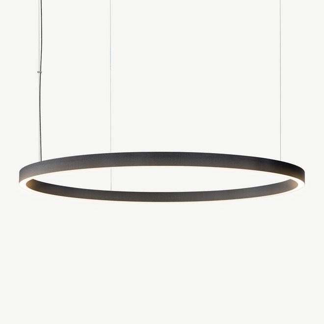 LED ring pendant lamp HALO Up-Down ø1200 mm - black