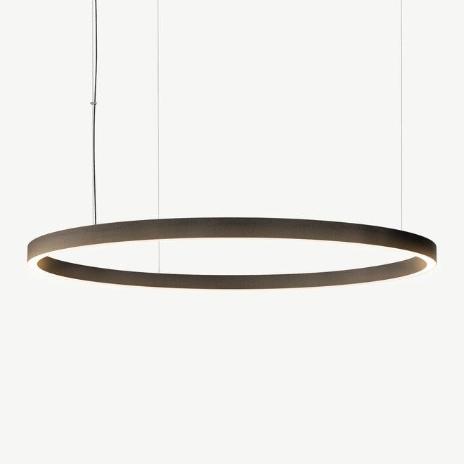 LED ring pendant lamp HALO Up-Down ø1200 mm - bronze