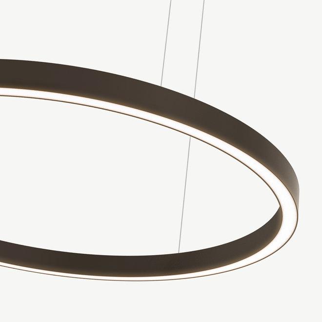 LED ring pendant lamp HALO Up-Down ø1800 mm - bronze