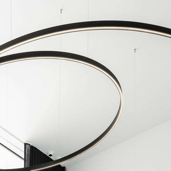 LED ring hanglamp HALO Up-Down ø1800 mm - zwart