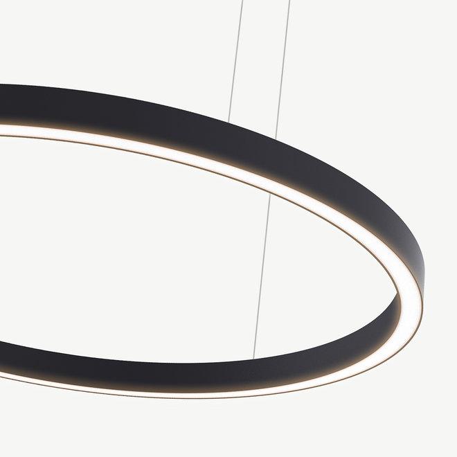 LED ring pendant lamp HALO Up-Down ø1800 mm - black