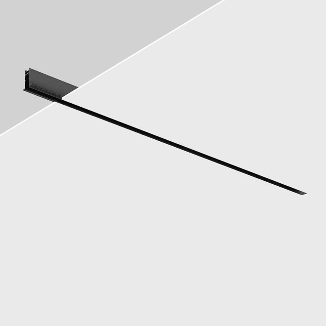 CLIXX magnetic track light system - recessed (rimless) profile - black