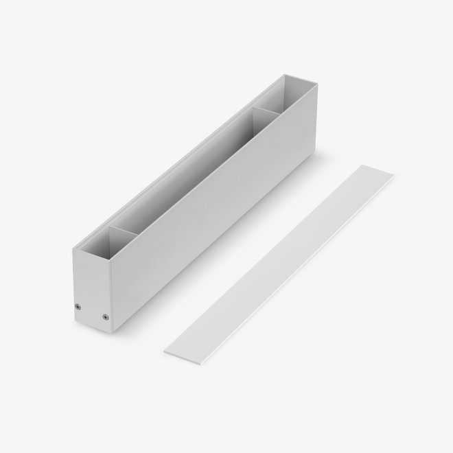 CLIXX magnetic track accessories surface/suspended driverbox - white