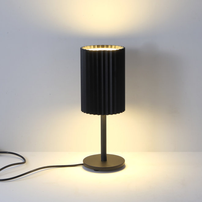 Table lamp Leah with texture - black