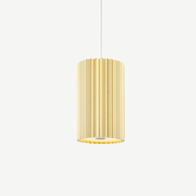 Pendant lamp Leah with texture - gold