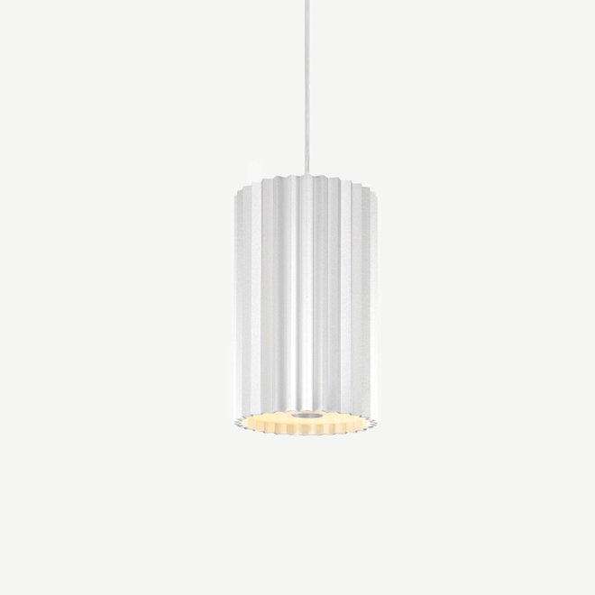Pendant lamp Leah with texture - silver
