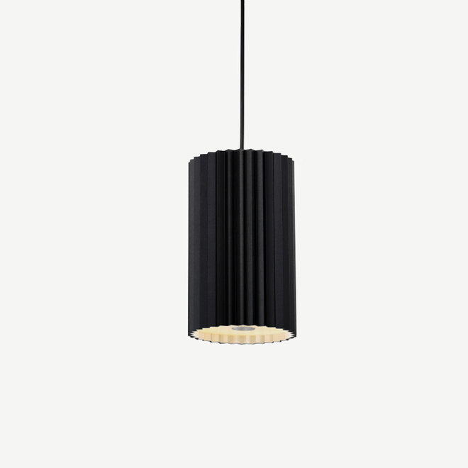 Pendant lamp Leah with texture - black