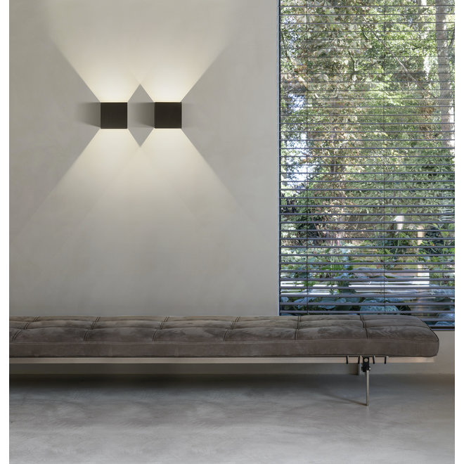 LED indoor/outdoor wall lamp CUUB square White Dimmable