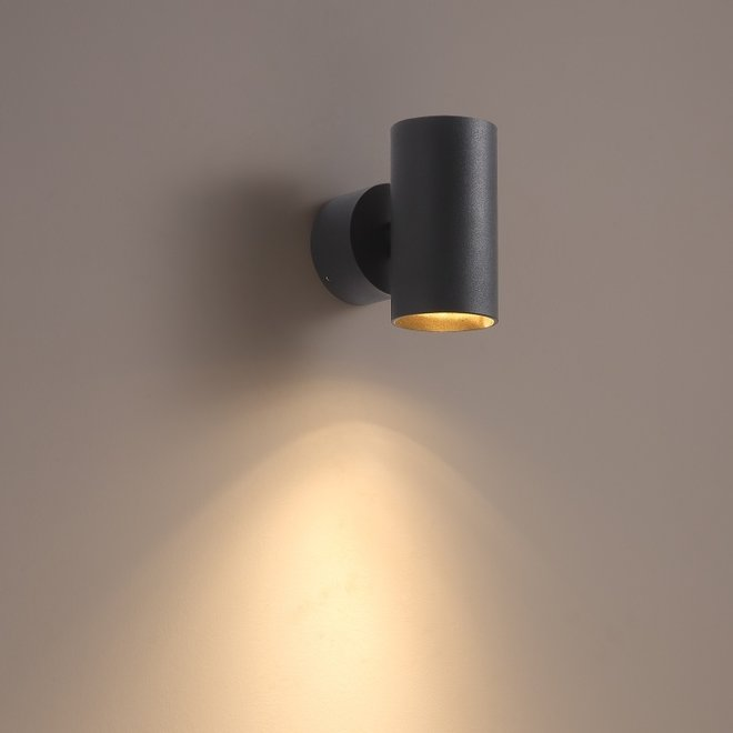 Surface wall spot TUUB with GU10 fitting - black