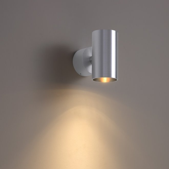 Surface wall spot TUUB with GU10 fitting - silver